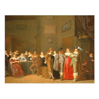 Carte Postale Scène de poursuite, 1644 (huile sur la toile)
