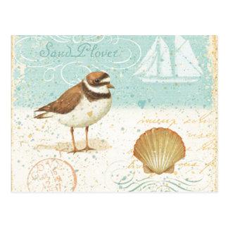 Carte Postale Scène vintage de plage