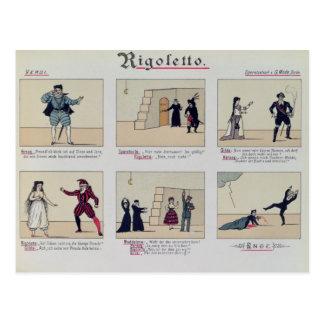 Carte Postale Scènes de l'opéra 'Rigoletto