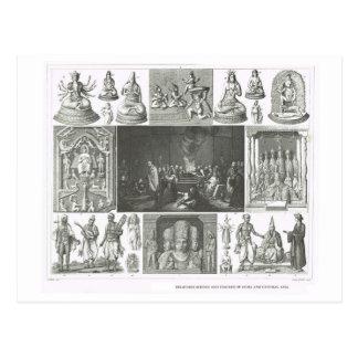 Carte Postale Scènes religieuses Inde et Asie centrale