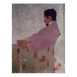 Carte Postale Schiele-Portrait d'Egon du peintre Anton Peschka