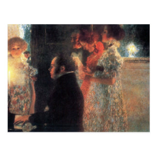 Carte Postale Schubert au piano par Gustav Klimt