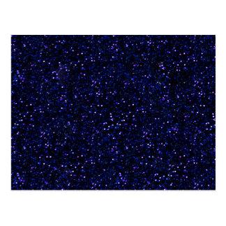 Carte Postale Scintillement de minuit foncé de bleu d'indigo