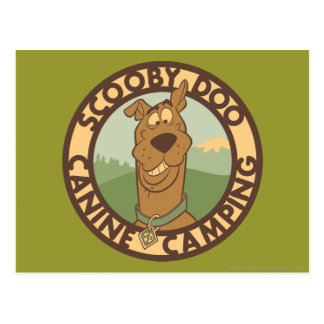 "Carte Postale Scooby Doo ""camping canin """