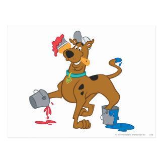 Carte Postale Scooby Doo Paint3