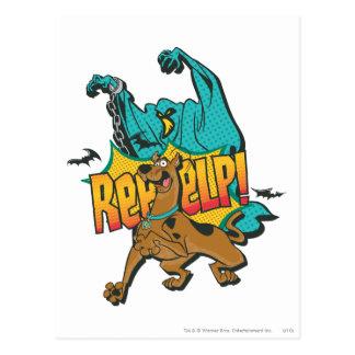 """Carte Postale Scooby Doo """"Reeeelp ! """""""