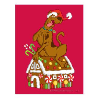 Carte Postale Scooby et Chambre de pain d'épice