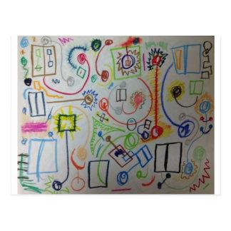 Carte Postale scribles