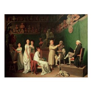 Carte Postale Sculpter le buste du marquis De de Pierre