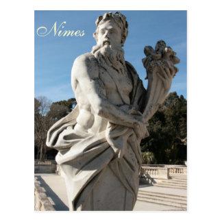 Carte Postale Sculpture chez Jardins de la Fontaine