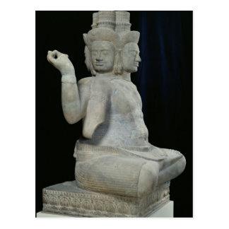 Carte Postale Sculpture de Brahma avec quatre visages