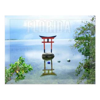 Carte Postale Sculpture en eau dans les clés de la Floride