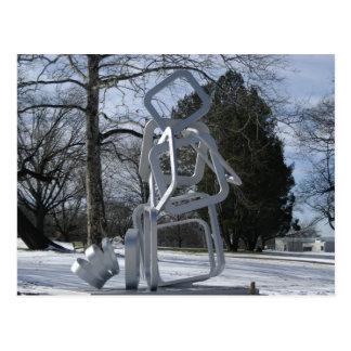 Carte Postale Sculpture en parc de Mellon, PA de Pittsburgh