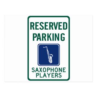 Carte Postale Se garer de joueurs de saxophone
