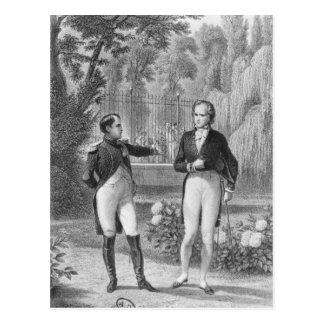 Carte Postale Se réunir entre le napoléon I et le Benjamin