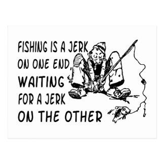 Carte Postale Secousse de pêche