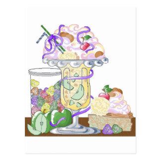 Carte Postale Secousse élevée de tarte aux pommes