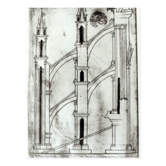 Carte Postale Section du mur et de la voûte