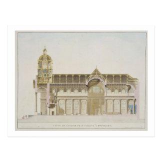 Carte Postale Section transversale de l'église de St Jacques,