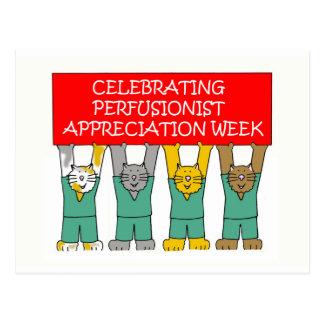 Carte Postale Semaine d'appréciation de Perfusionist