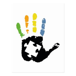 Carte Postale Sensibilisation sur l'autisme