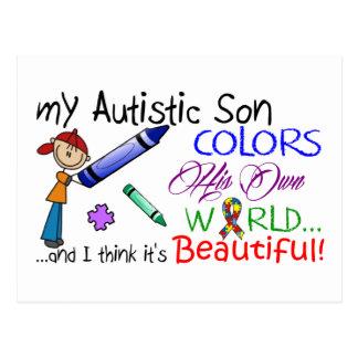 Carte Postale Sensibilisation sur l'autisme - fils
