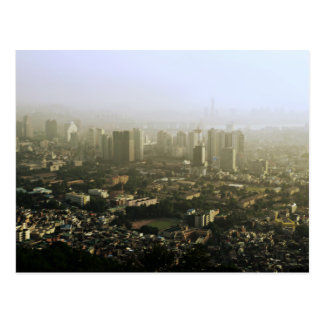 Carte Postale Séoul de conception urbaine ci-dessus de photo