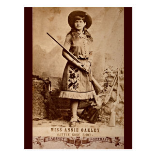 Carte Postale Sépia d'Annie Oakley