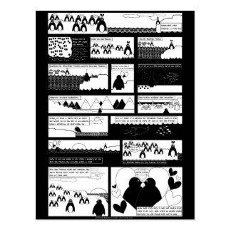 Carte Postale Serez-vous mon pingouin ? La BG noire