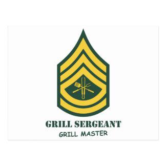 Carte Postale Sergent de gril d'armée