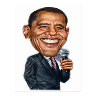 Carte Postale Série de caricature de Barack Obama
