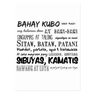 Carte Postale Série philippine de comptine