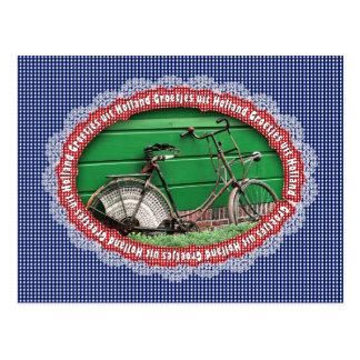 Carte Postale Série : Salutations de Hollande - vieux vélo