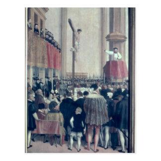 Carte Postale Sermon du legs papal, Cornélius Musso
