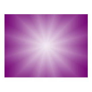 Carte Postale SEULEMENT gradients de COULEUR - étoile magenta