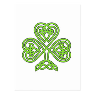 Carte Postale Shamrock celtique