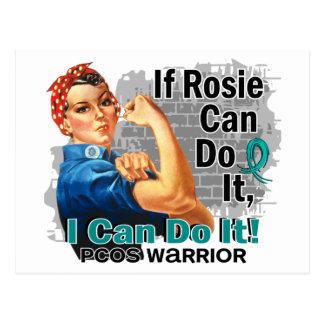 Carte Postale Si Rosie peut le faire guerrier de PCOS