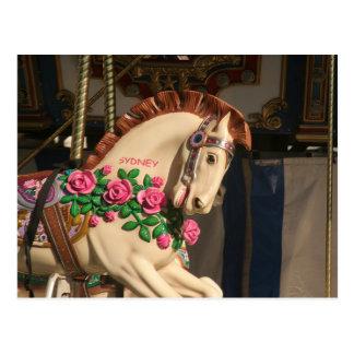 Carte Postale Sidney le cheval de carrousel