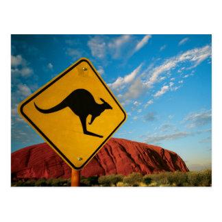 Carte Postale signe de kangourou de roche d'ayers