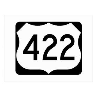Carte Postale Signe de l'itinéraire 422 des USA