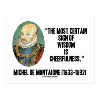 Carte Postale Signe de Michel de Montaigne de gaieté de sagesse