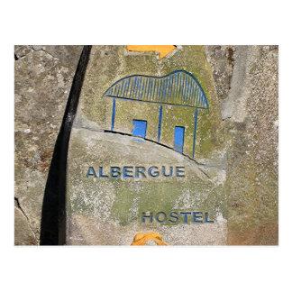 Carte Postale Signe de pension d'Albergue, EL Camino, Espagne