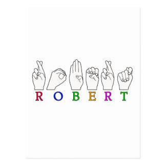 CARTE POSTALE SIGNE DE ROBERT FINGERSPELLED ASL