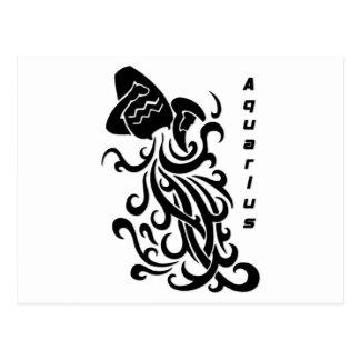 Carte Postale Signe de zodiaque de Verseau