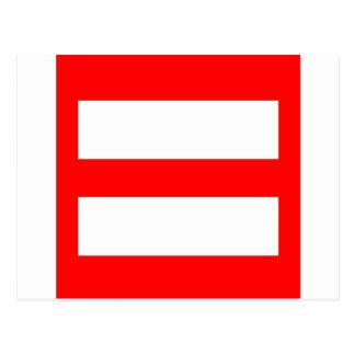 Carte Postale Signe d'égalité