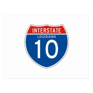 Carte Postale Signe d'un état à un autre 10 - la Louisiane