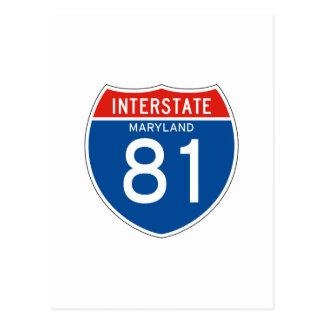 Carte Postale Signe d'un état à un autre 81 - le Maryland