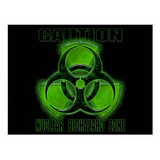 Carte Postale Signe nucléaire de précaution de Biohazard