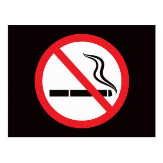 Carte Postale Signe ou symbole non-fumeurs/cartes postales