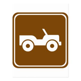 Carte Postale signe tous terrains de route de la traînée 4WD